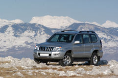 Suv on the mountain Royalty Free Stock Photos