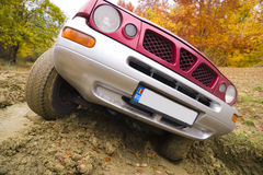 SUV on mud Royalty Free Stock Photo