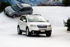 Suv nella neve Fotografia Stock