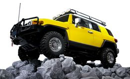 SUV off road isolated Royalty Free Stock Photography