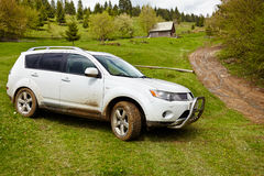 SUV in offroad Royalty Free Stock Photography