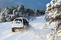 Free SUV On Snow Royalty Free Stock Photography - 101599297