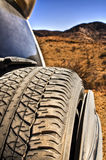 SUV in the outback Royalty Free Stock Image