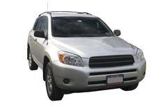 SUV over white. Silver RAV isolated over white Royalty Free Stock Photo