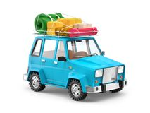 SUV przygody kreskówka zdjęcie royalty free