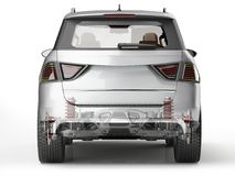 Suv rear suspension system in ghost effect. Back view. Suv rear suspension system in ghost effect. Rear view. On white background. Clipping path included Royalty Free Stock Images