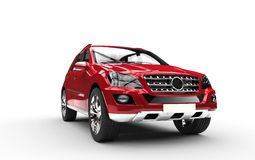SUV rosso Front View Immagine Stock