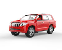 Suv rouge Images stock