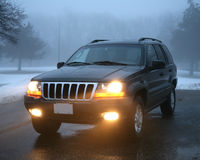 Suv in the snow Royalty Free Stock Image