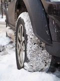 SUV in snow Royalty Free Stock Photography