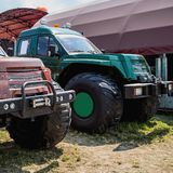 SUV or sport utility vehicles in agriculture industry Royalty Free Stock Photography