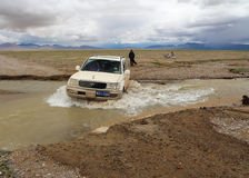 The SUV in Tibet Royalty Free Stock Photos