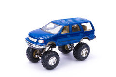 Suv or truck, pick up, plastic car toy, on white background. Stock Photos