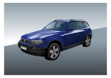 SUV vector Royalty Free Stock Images