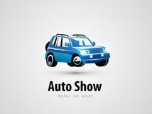 SUV vector logo design template. transport or car Royalty Free Stock Photos