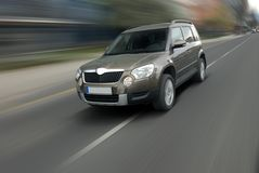 SUV veloce Immagine Stock Libera da Diritti