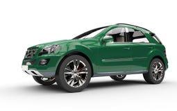 SUV vert-foncé Photo libre de droits
