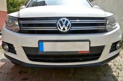 SUV Volkswagen Tiguan, agosto de 2014 foto de archivo libre de regalías