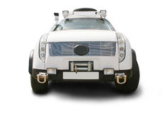 SUV the white big isolated Stock Photography