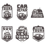 Suv 4x4 off-road travel tour club Icon logo template vector Stock Photos
