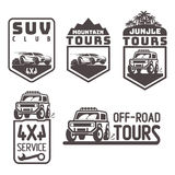Suv 4x4 off-road travel tour club Icon logo template vector Stock Photo