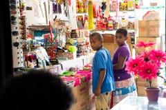Suva Fiji. Children at sweets shop in Suva Fiji Stock Photography