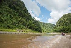 Longboat Canoe Ride Stock Photography