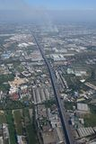Suvarnabhumi Airport Bangkok aerial view paddy field Royalty Free Stock Photography