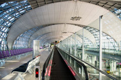 Suvarnabhumi Airport (BKK) is the main hub for Thai Airways. Royalty Free Stock Photography