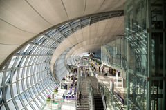 Suvarnabhumi Airport (BKK) is the main hub for Thai Airways. Royalty Free Stock Photos