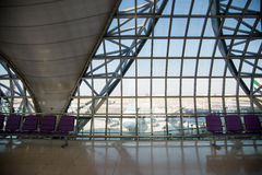 Suvarnabhumi Airport (BKK) is the main hub for Thai Airways. Stock Image