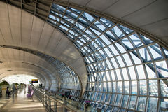 Suvarnabhumi Airport (BKK) is the main hub for Thai Airways. Stock Photo