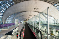 Suvarnabhumi Airport (BKK) is the main hub for Thai Airways (TG) Royalty Free Stock Photo