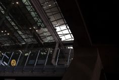 Suvarnabhumi airport building glass facade royalty free stock images