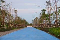 Suvarnabhumi-Flughafen, Samut Prakan, Thailand 17. Februar 2019: Radweg lizenzfreie stockfotografie