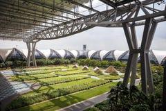 Suvarnabhumi flygplats: Utomhus- morgon arkivbild