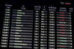 Suvarnabhumi internationell flygplats Bangkok Thailand arkivfoton