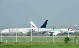 Suvarnabhumi lotnisko międzynarodowe, Bangkok Tajlandia zdjęcie royalty free