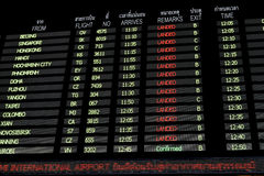Suvarnabhumi lotnisko międzynarodowe Bangkok Tajlandia Fotografia Royalty Free