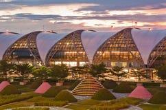 Suvarnabhumiluchthaven, Bangkok, Thailand Stock Afbeelding