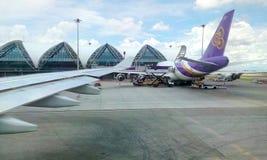 Suvarnabhumiluchthaven BKK Bangkok Stock Fotografie