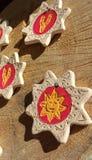 Suveniers da argila de Sun Fotografia de Stock Royalty Free