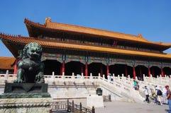 suverän beijing stad förbjuden korridorharmoni Royaltyfri Bild