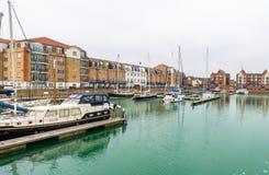 Suverän hamn i Eastbourne, östliga Sussex, UK Fotografering för Bildbyråer