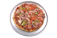 suverän pannapizza Royaltyfri Foto