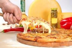 suverän pizza Arkivbilder
