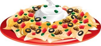 suveräna nachos Arkivbild