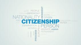 Suveränitet för flyttning för man för pass för invånare för medborgarskappersonnationalitet utomlands bearbetar applicerar det li vektor illustrationer