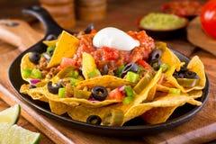 suveräna nachos Arkivfoton