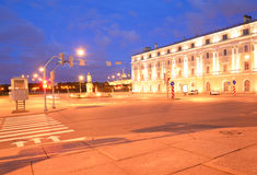 Suvorov Square at night. Stock Photography